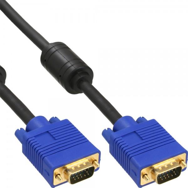 InLine® S-VGA Kabel Premium, 15pol HD Stecker / Stecker, schwarz, 10m