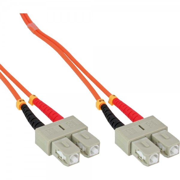 InLine® LWL Duplex Kabel, SC/SC, 50/125µm, OM2, 0,5m