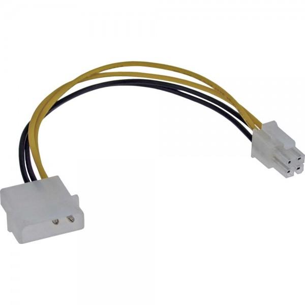 InLine® Stromadapter intern, 4pol Netzteil zu 4pol Mainboard, 20cm