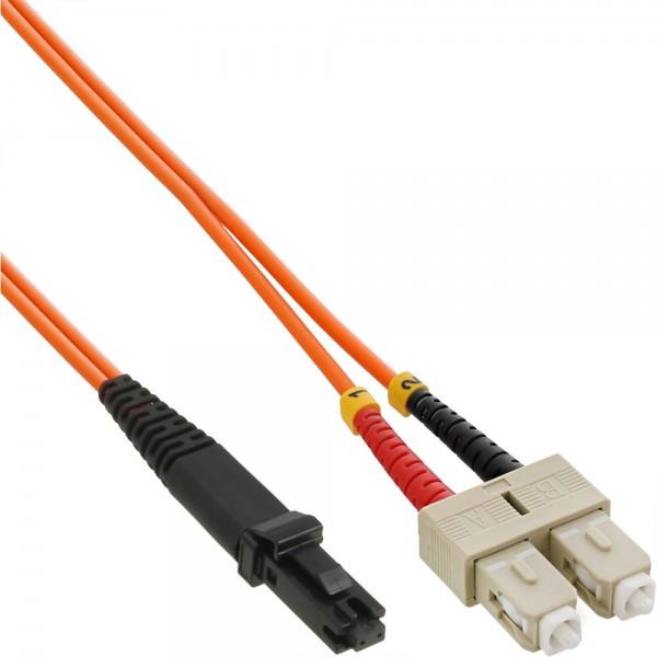 InLine® LWL Duplex Kabel, MTRJ/SC, 50/125µm, OM2, 5m