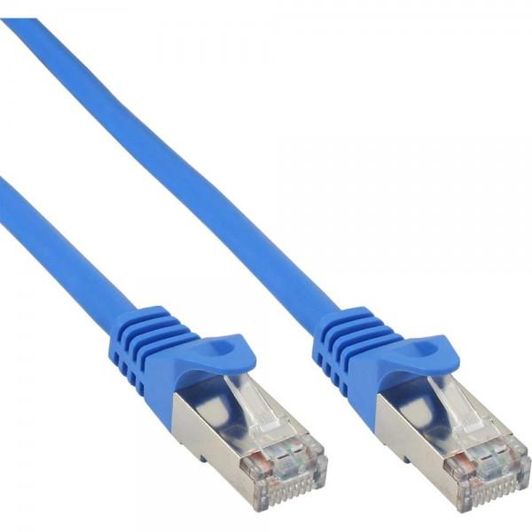 InLine® Patchkabel, SF/UTP, Cat.5e, blau, 7,5m