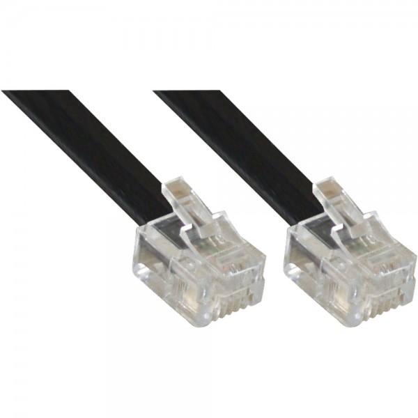 InLine® Modularkabel RJ12, Stecker / Stecker, 6adrig, 6P6C, 15m