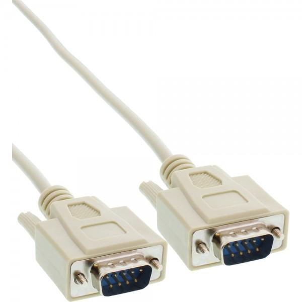 InLine® Serielles Kabel, 9pol Stecker / Stecker, vergossen, 1:1 belegt, 3m