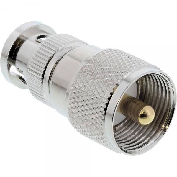 InLine® BNC Adapter, BNC Stecker auf UHF/PL-259 Stecker