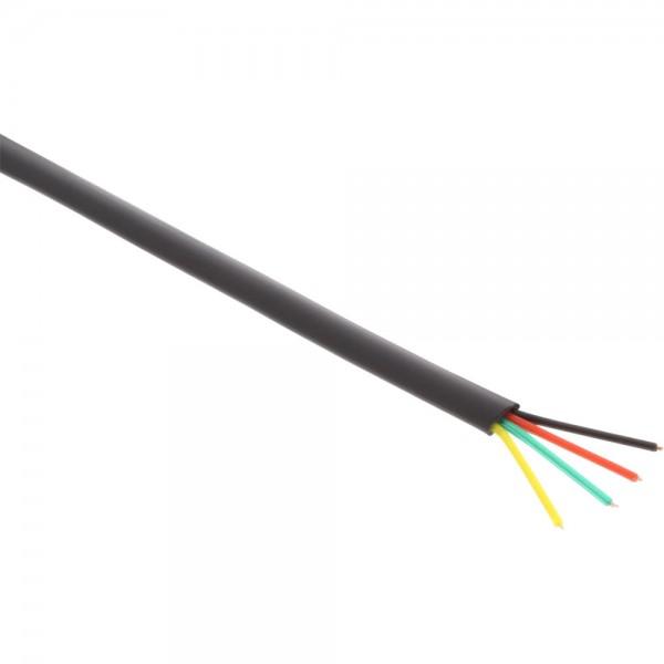 InLine® Modularkabel, 6adrig Flachband schwarz, 100m Ring