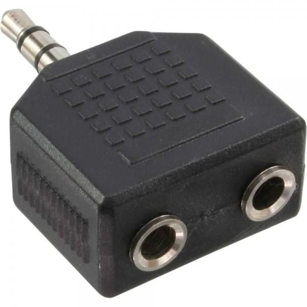 InLine® Audio Adapter, 3,5mm Klinke Stecker an 2x 3,5mm Klinke Buchse, Stereo