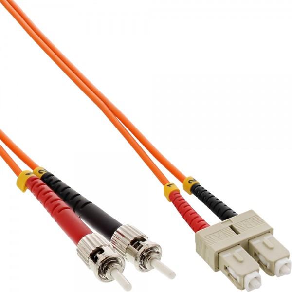 InLine® LWL Duplex Kabel, SC/ST, 50/125µm, OM2, 15m