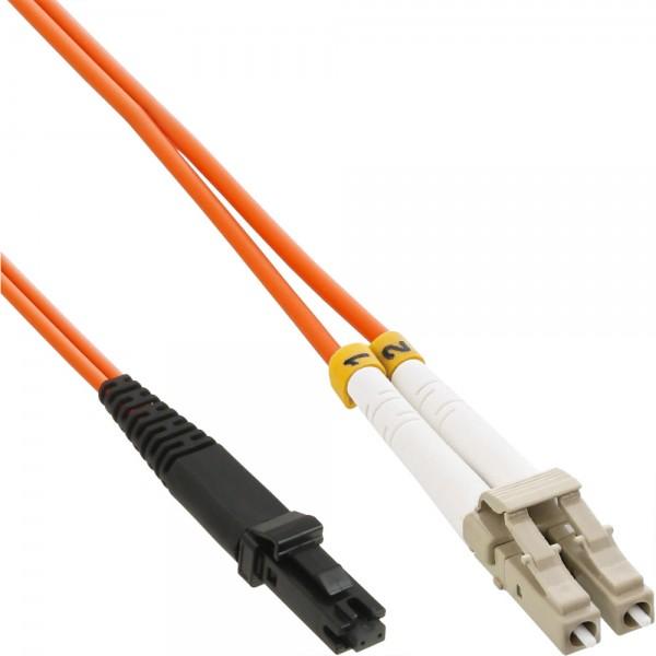 InLine® LWL Duplex Kabel, MTRJ/LC, 50/125µm, OM2, 2m