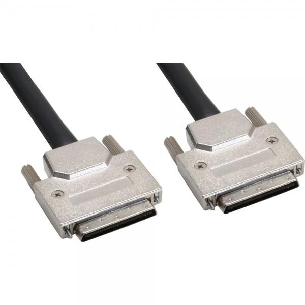 InLine® SCSI U320 Kabel, 68pol micro Centronic (VHD) Stecker / Stecker, 0,9m