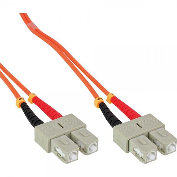 InLine® LWL Duplex Kabel, SC/SC, 50/125µm, OM2, 3m