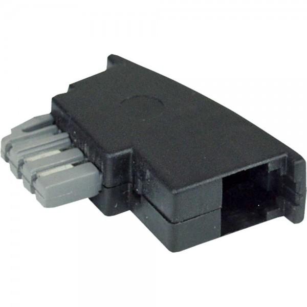 InLine® TAE-N Adapter, TAE-N Stecker auf RJ11 Buchse 6P4C