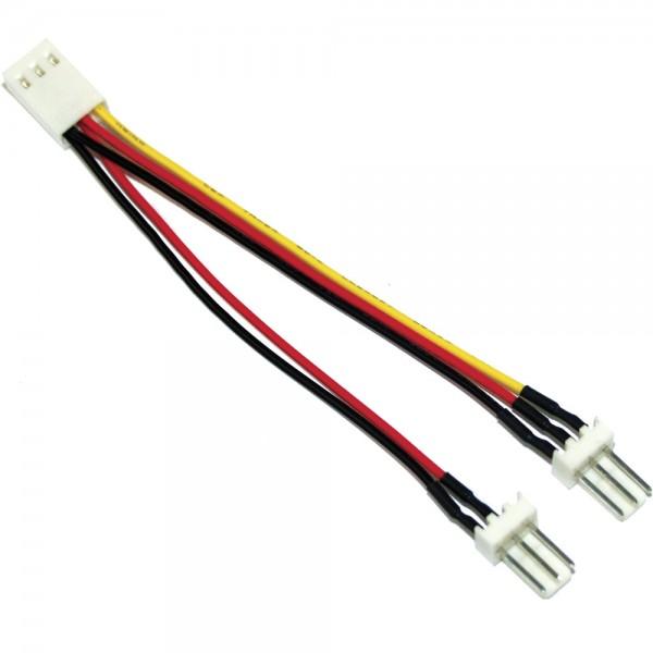 InLine® Lüfter Adapterkabel, 3pol Molex Buchse an 2x 3pol Molex Stecker