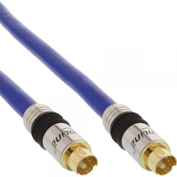 InLine® S-VHS Kabel, PREMIUM, vergoldete Stecker, 4pol mini DIN Stecker / Stecker, 2m