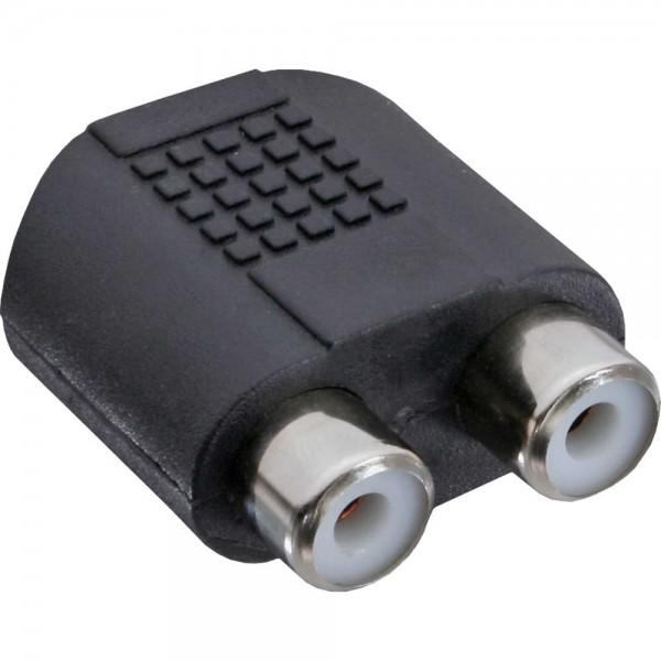 InLine® Audio Adapter, 3,5mm Klinke Buchse Stereo an 2x Cinch Buchse