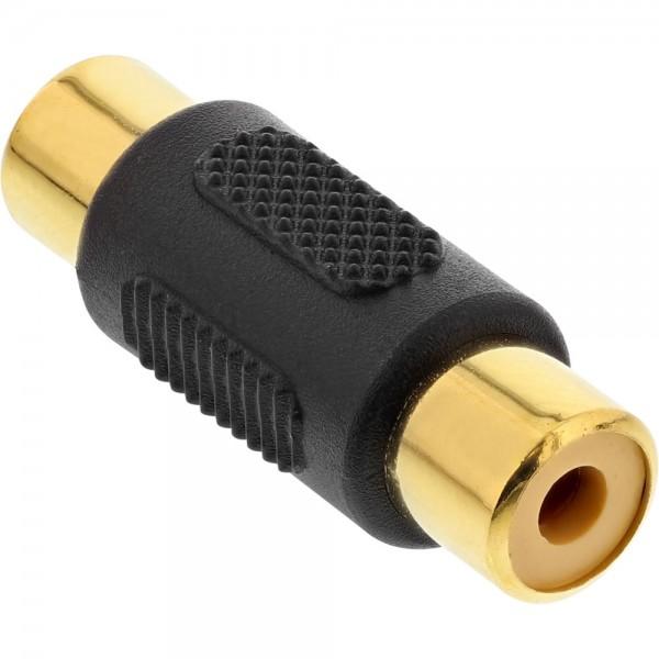 InLine® Audio Adapter, Cinch Buchse an Cinch Buchse, vergoldet