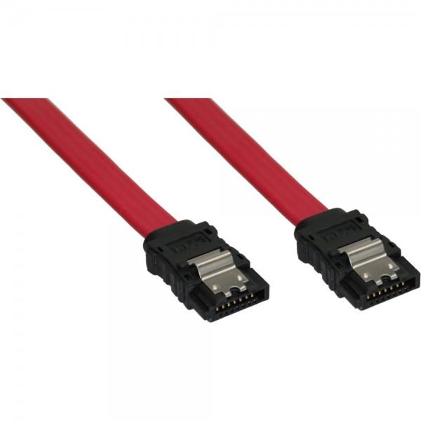 InLine® SATA Anschlusskabel, mit Sicherheitslasche, 0,7m