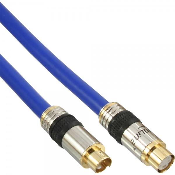 InLine® S-VHS Verlängerung, PREMIUM, vergoldete Stecker, 4pol mini DIN Stecker / Buchse, 5m