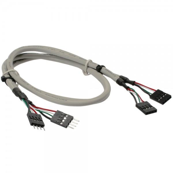 InLine® USB 2.0 Verlängerung, intern, 2x 4pol Pfostenstecker auf Pfostenbuchse, 0,6m