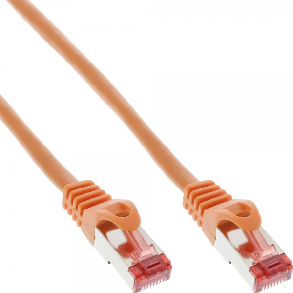 InLine® Patchkabel, S/FTP (PiMf), Cat.6, 250MHz, PVC, Kupfer, orange, 3m