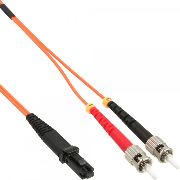 InLine® LWL Duplex Kabel, MTRJ/ST, 62,5/125µm, OM1, 10m