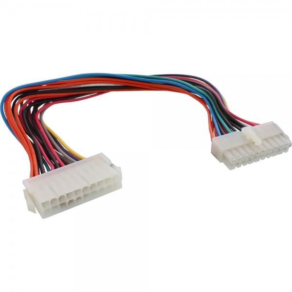InLine® Strom Verlängerung intern, 20pol Stecker / Buchse, Netzteil zu Mainboard, 0,3m