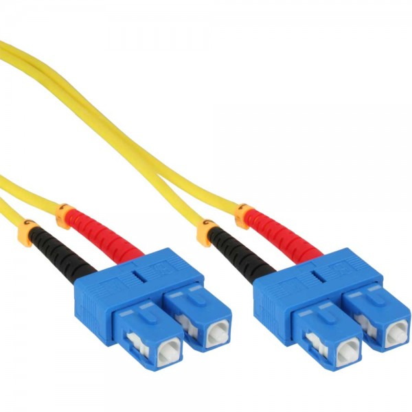 InLine® LWL Duplex Kabel, SC/SC, 9/125µm, OS2, 2m