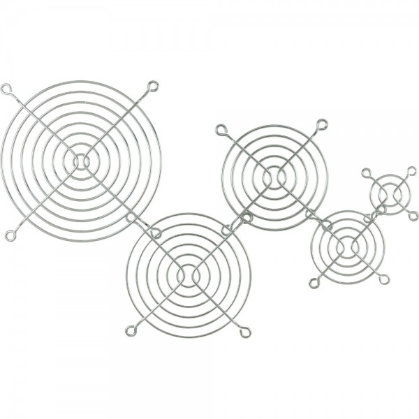 InLine® Lüftergitter Metall, verchromt, 40x40mm