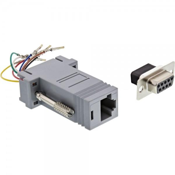 InLine® Adapter, 9pol Sub D Buchse an RJ45 Buchse