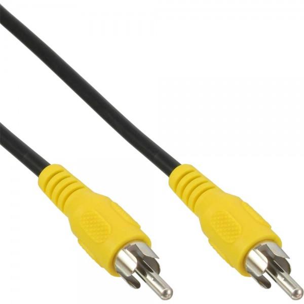 InLine® Cinch Kabel, Video, 1x CinchStecker / Stecker, Steckerfarbe gelb, 5m
