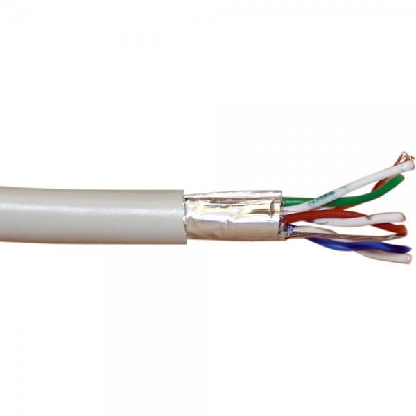InLine® Patchkabel Cat.5e, grau, F/UTP, AWG26 CCA, PVC, 100m