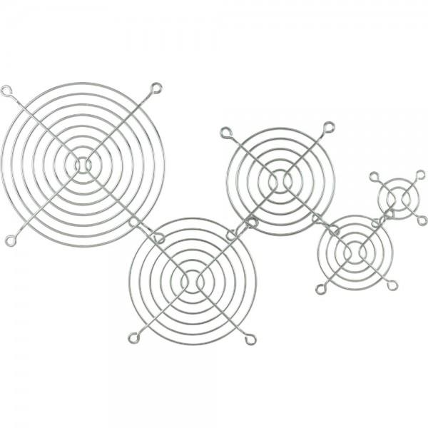 InLine® Lüftergitter Metall, verchromt, 120x120mm