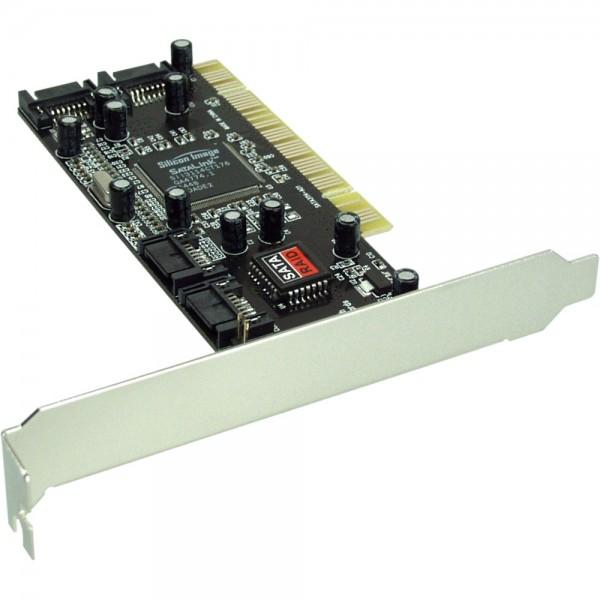 InLine® Schnittstellenkarte, SATA RAID Controller Karte 4-Kanal, PCI